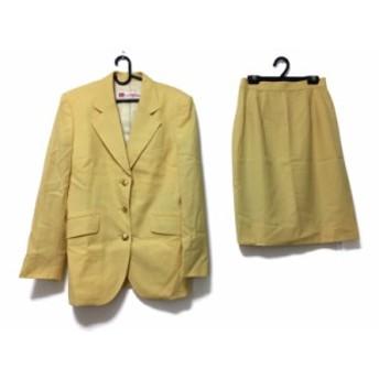 オールドイングランド OLD ENGLAND スカートスーツ レディース イエロー 肩パッド【中古】