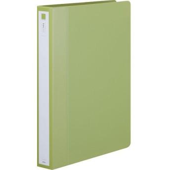 アスクル リングファイル A4タテ 丸型2穴 背幅36mm グリーン 緑