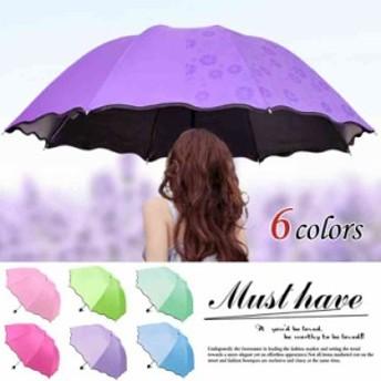 折りたたみ傘 日傘 晴雨兼用 折り畳み 遮熱 遮光 傘 UVカット レディース