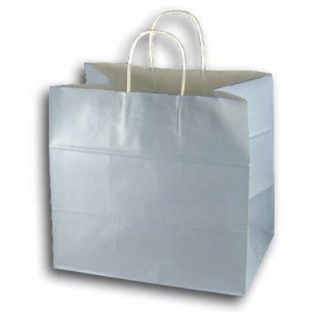 手提げ紙袋 34-1 パールブルー マチ巾広タイプ 10枚