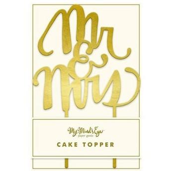 パーティーグッズ 花岡 ペーパーインテリジェンス My Mind's Eye ケーキトッパー mr&mrs H-ME FYP303