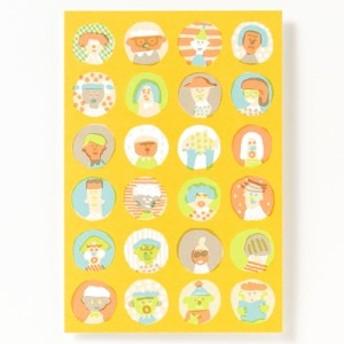 AIUEO ポストカード marumado はがき 葉書 インテリアにも プレゼント イラスト かわいい おしゃれ デザイナー AIUPC (0200204000021)