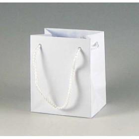 手提げ紙袋 Kバッグ T-5N白エンボス(つや無し) 10cm巾 10枚