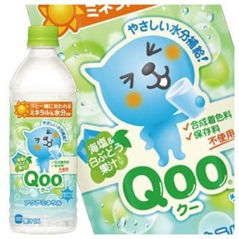 コカコーラ ミニッツメイド クー [Qoo] アクアミネラル 500mlPET×24本 同一商品のみ2ケース毎に送料をご負担いただきます。【4〜5営業日以内に出荷】