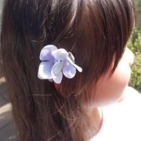 紫陽花 ヘアクリップ ブルー Sサイズ