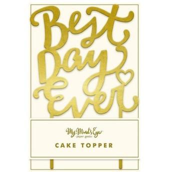 パーティーグッズ 花岡 ペーパーインテリジェンス My Mind's Eye ケーキトッパー Best Day Ever H-ME FYP302