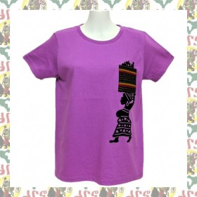 【drs/M】女性用Tシャツ アフリカママ / レゲエ エチオピア DUB REGGAE