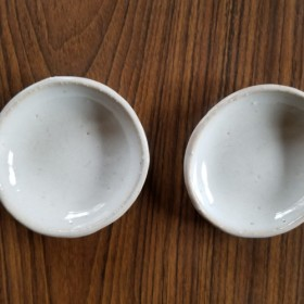 白いまめ皿2個セット