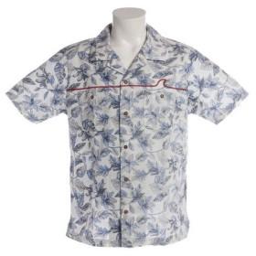 SAS 総柄裏使いプリントシャツ SAS1754400-1-WHT (Men's)
