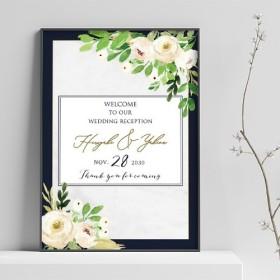 ウェルカムボード 名入れ 結婚式 二次会 ポスター印刷 パネル加工OK bord0226