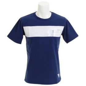 CHRISTIAN 24 ラインクルーネック ポケット 半袖Tシャツ CH24M034 NVY (Men's)