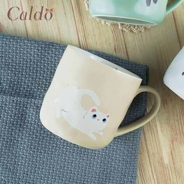 【Caldo卡朵生活】俏皮喵咪日系手感馬克杯
