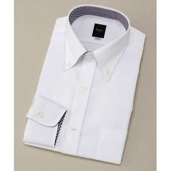 【SALE(伊勢丹)】<ビージーアール> ボタンダウン台衿切り替え白ドビードレスシャツ(3047421510) ホワイト 【三越・伊勢丹/公式】