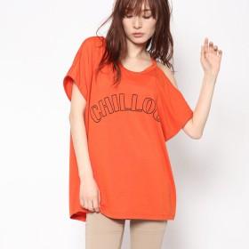 ジーラ バイ リュリュ GeeRa by RyuRyu ワンショルダーゆるTシャツ (テラコッタ)