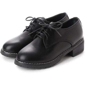 シュベック SVEC オックスフォードシューズ レースアップシューズ おじ靴 プレーントゥ (ブラック)