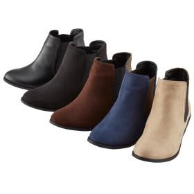 【格安-女性靴】レディースサイドゴア太ヒールブーツ