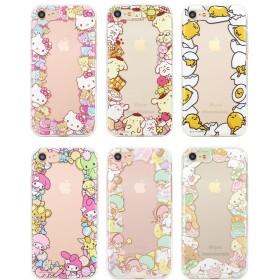 Hello Kitty ハローキティ フレンズ サークル ゼリー ケース ♪ iPhone6/6s 人気 可愛い 透明 ソフト TPU 柔らかいカバー