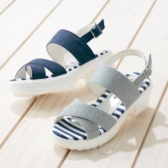 【格安-子供用靴】ストーム付キラキラインソールクロスベルトカジュアルサンダル
