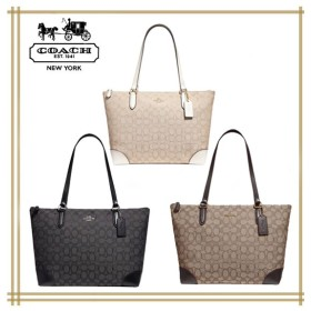 【クーポン使用可能】COACH★ZIP TOP TOTE IN SIGNATURE JACQUARD F29958