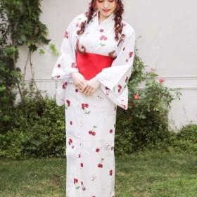 Ank Rouge Lacy Heart cherry浴衣SET / ブルー / F (アンクルージュ)