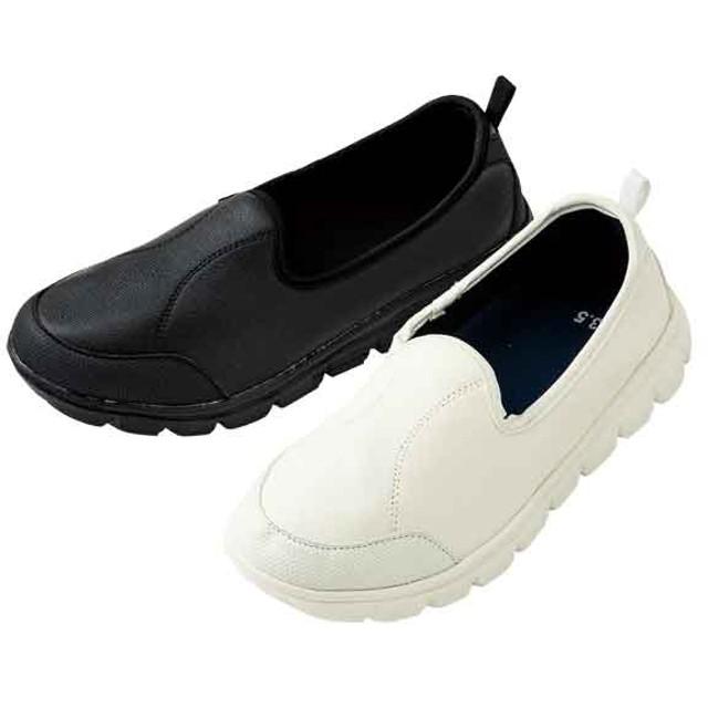 【格安-女性靴】(エアロップ)レディース軽量スリッポンスニーカー