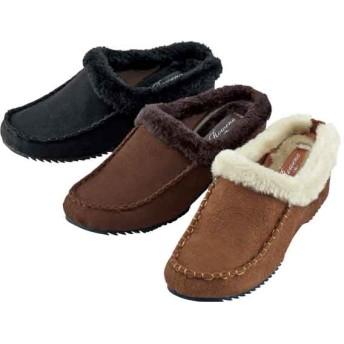 【格安-女性靴】レディース内側ボア付ミュールタイプサンダル