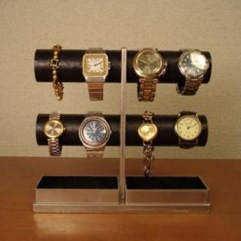 父の日に!急いで! 8本掛け丸パイプブラック腕時計スタンド ak-design No.11711