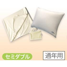 【正規品】トゥルースリーパー 快適安眠セット - 快適安眠セット セミダブル アイボリー【通年用】 <Shop Japan(ショップジャパン)公式>ピロー、ピローカバー、マットレスカバーの3点セット。
