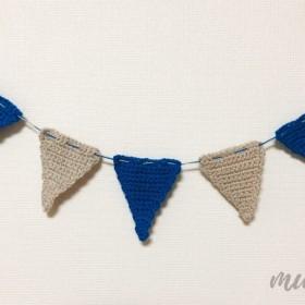 手編みの三角ガーランド Mサイズ