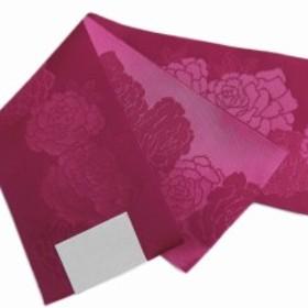 小粋柄半巾帯半幅帯ワイン色地薔薇 浴衣ゆかた&卒業式袴に 女性用 日本製
