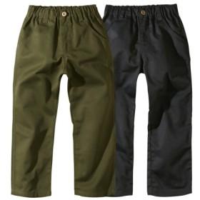 ツイルロングパンツ2枚組(男の子。女の子 子供服。ジュニア服) パンツ