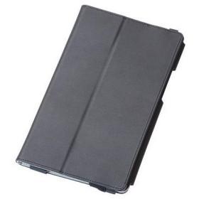 ELECOM TBD-HW48APLFBK dtab Compact d-01J フラップカバー ソフトレザー 2アングル 軽量 ブラック タブレットケース