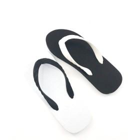 【オンワード】 九十九(ツクモ) 【パンダ】日本製ビーチサンダル ブラック×ホワイトmix 15 レディース
