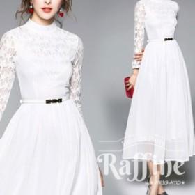 パーティードレス 韓国 ワンピース 二次会 結婚式 お呼ばれ ドレス  スター  ウエストマーク 透け感 星柄