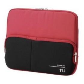 ELECOM BM-IBPT11RD PC用インナーバッグ ポケット付 11.6インチ レッド インナーケース