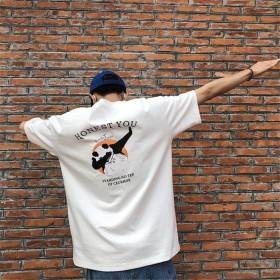 ★2000円以上400円割引クーポン適用★2019超人気 春夏 Tシャツ メンズ 韓国ファッション プリント 半袖