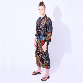 浴衣 - MINE CUBE YOKAYOKA メンズ 浴衣 単品 ボタニカル
