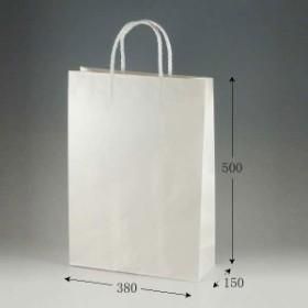 手提げ紙袋 スムース カスタム 片艶白無地 120g PPロープ紐 25枚