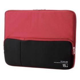 ELECOM BM-IBPT15RD PC用インナーバッグ ポケット付 15.6インチ レッド インナーケース