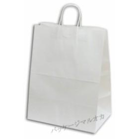 手提げ紙袋 34-2 晒白無地 100g 丸紐 50枚