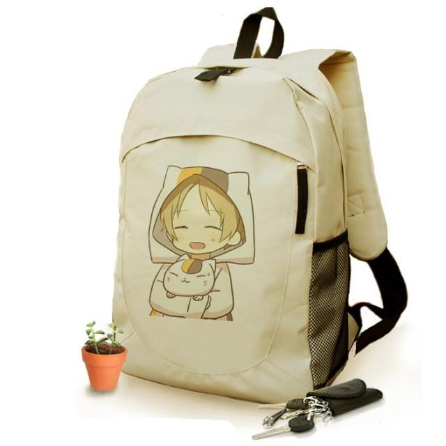 夏目友人帳 ニャンコ先生 リュックサック バックパック デイパック バッグ 遠足 通学 おしゃれ かばん 鞄