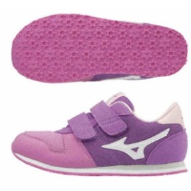 【キャッシュレスでP5%還元】 ミズノ キッズ 子供靴 スニーカー ランキッズ 5  ダブルグレープ  MIZUNO K1GD173302