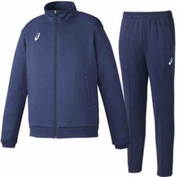 アシックス トレーニング ジャケット&ロングパンツ上下セット ネイビー×ネイビー asics XAT146-50-XAT247-50