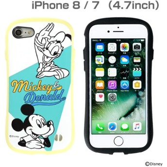 [iPhone 8/7専用]ミッキー90周年限定/ディズニーキャラクターiFace First Class Pastelケース(ミッキー&ドナルド/イエロー)
