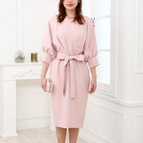 ドレス - Doula Doula フェミニンカシュクールAラインワンピース ウエストリボン【2019年春夏新商品】