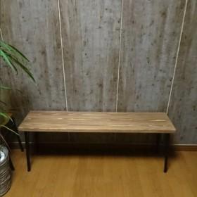 杉×鉄脚 ダイニングベンチ 1100300h430