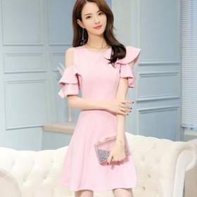 パーティー ドレス フレア 結婚式 韓国 20代 30代 40代 大きいサイズ 二次会 フォーマル 披露宴 お呼ばれ セットアップ