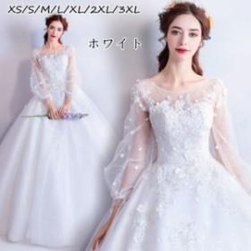 ウエディングドレストレーン 優雅ロングドレス パーティドレス イブニングドレス 結婚式 披露宴 イベント ドレス 18ylf19