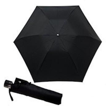男性用三つ折ミニ雨傘『Pierre cardin ピエールカルダン』デザイン ジャガード先染め 黒色系60cmサイズ (gfm16311-04)