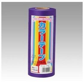 トーヨー  カラーテープ10P 紫 113005
